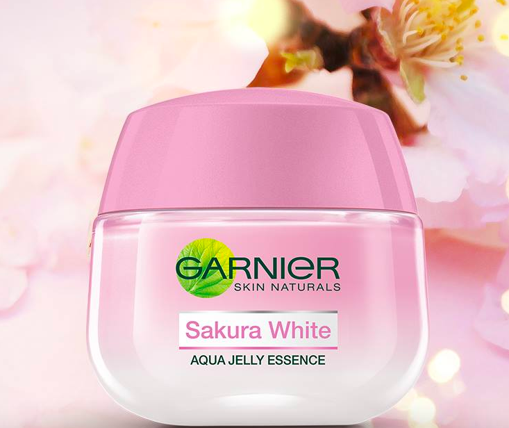 「kem dưỡng trắng da garnier sakura white aqua jelly essence」的圖片搜尋結果